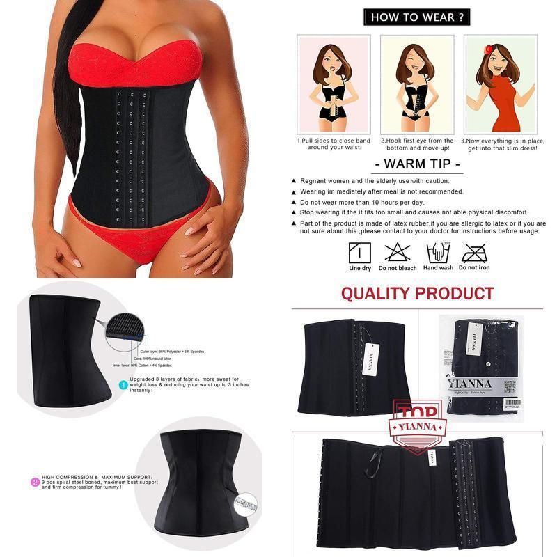 c59c07c7fa9 Women s Underbust Latex Sport Girdle Waist Trainer Corsets Hourglass Body  Shaper  fashion  clothing  shoes  accessories  womensclothing   intimatessleep ...