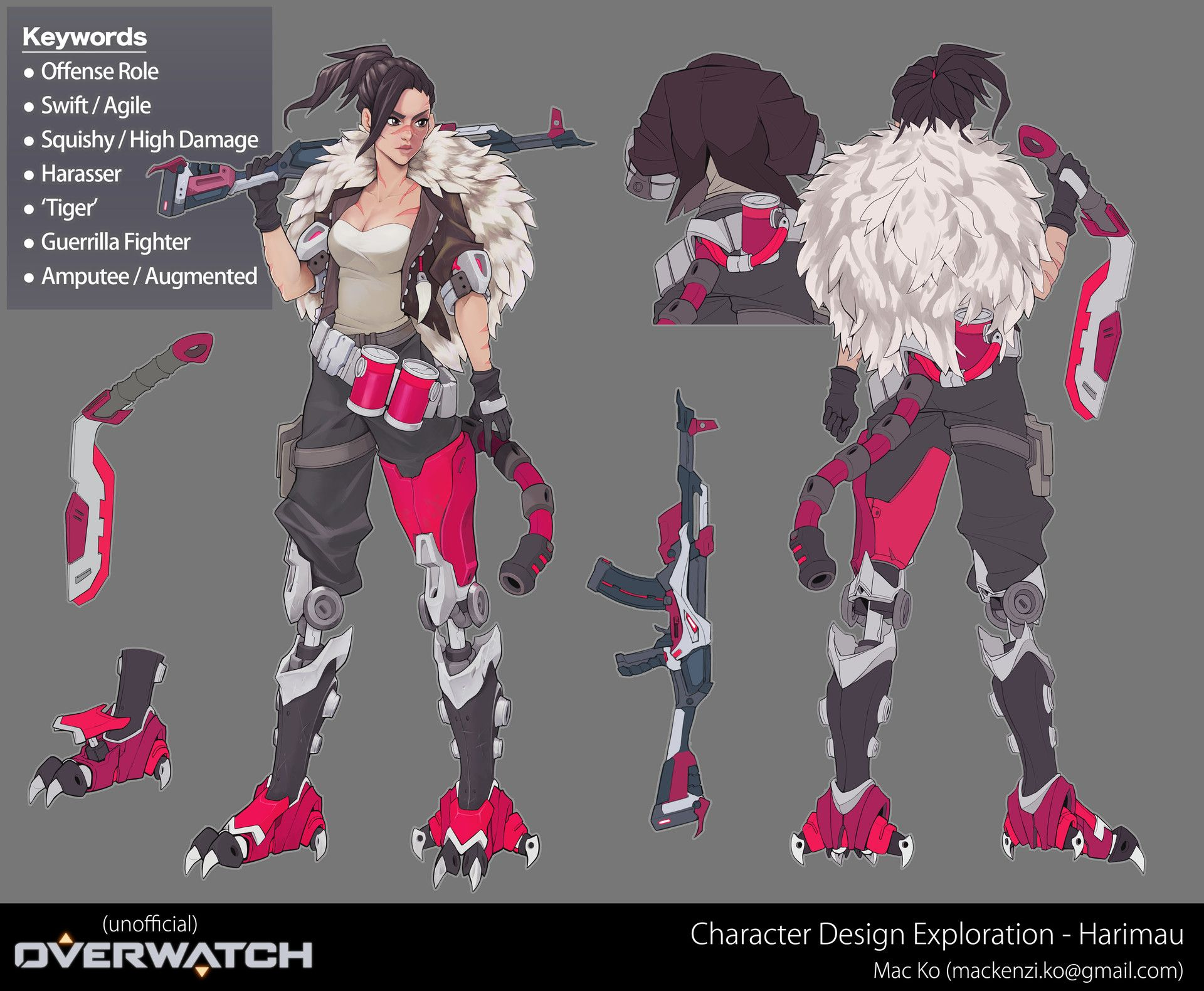 ArtStation - Overwatch Original Character Concept Excercise, Mac Ko