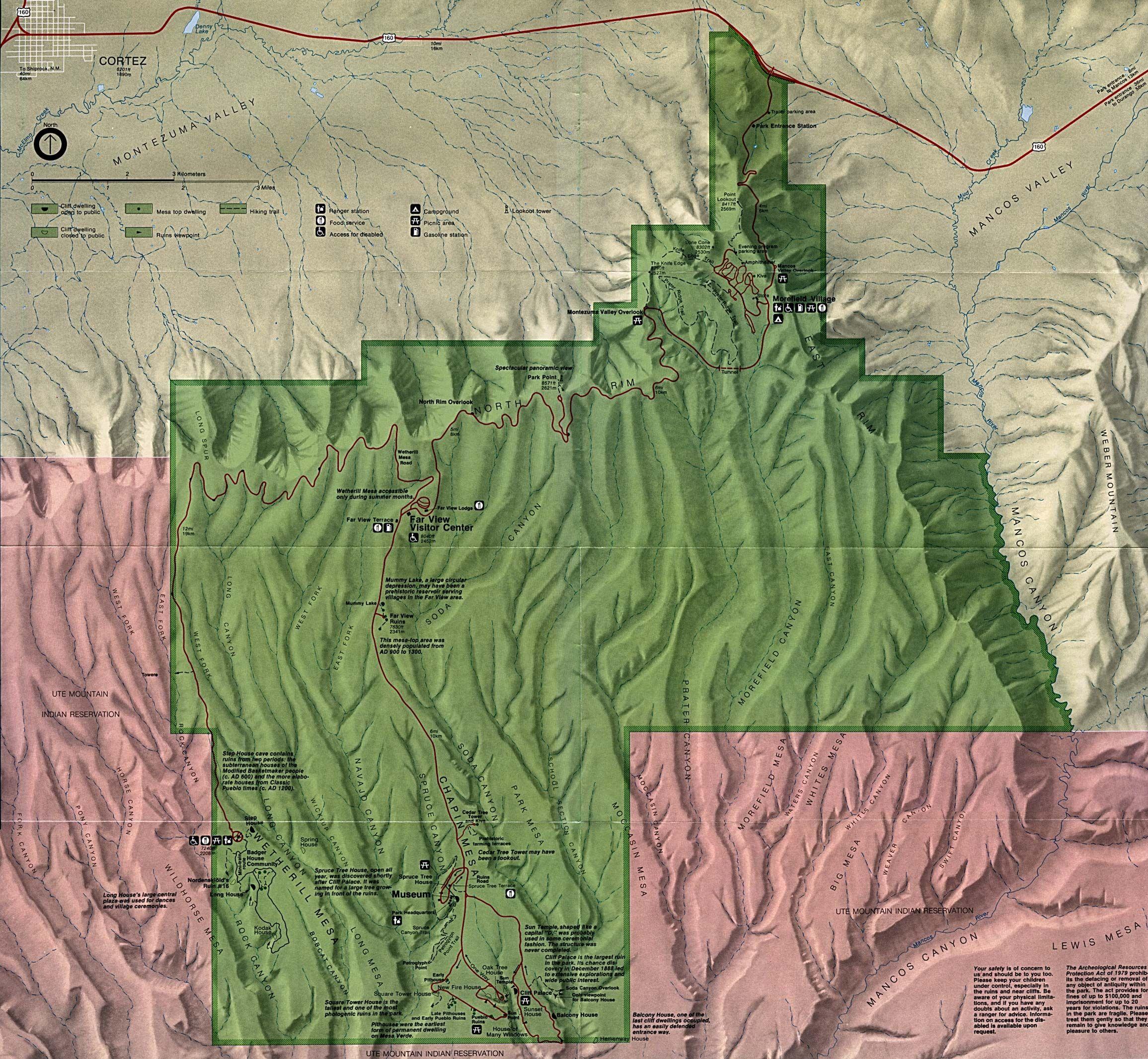 Mesa Verde National Park map | cartography & visualization ...