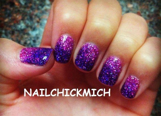 Acrylic Rockstar Nails | Purple and pink gradient rockstar nails - Nail Art  Gallery - Acrylic Rockstar Nails Purple And Pink Gradient Rockstar Nails