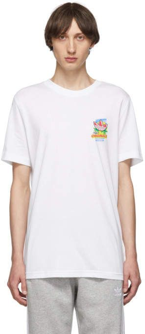 adidas Originals White Bodega Popsicle T Shirt | Products
