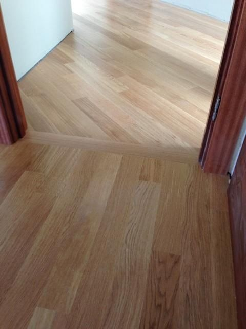 We Installed A Header Board Into This Angled Directional Change Wood Floors Home Flooring