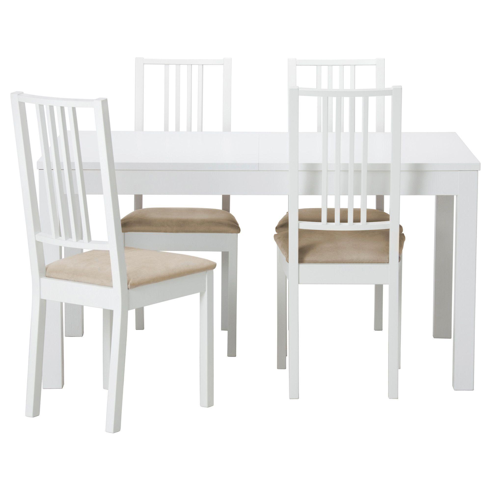 Tavolo Ikea Bjursta Bianco.Bjursta Borje Tavolo E 4 Sedie Bianco Kungsvik Sabbia