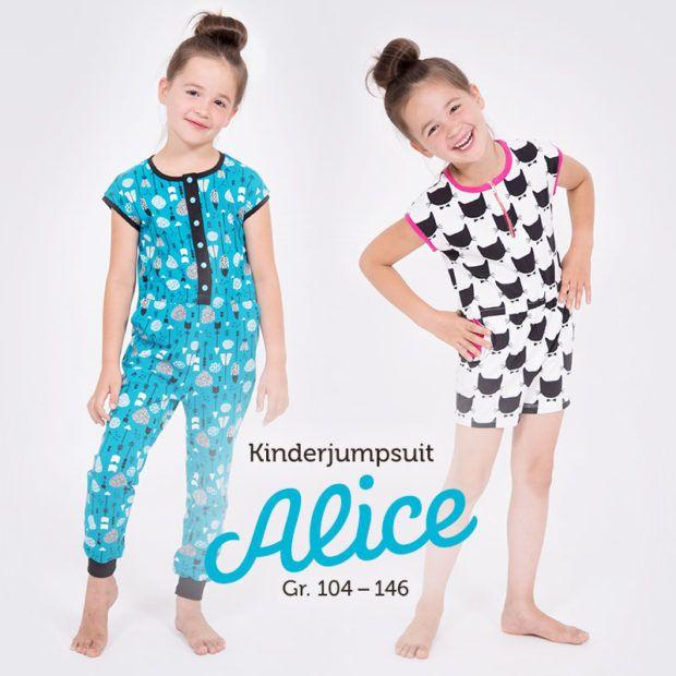 Jumpsuit für Kinder nähen | Kinder jumpsuit, Pattydoo schnittmuster ...