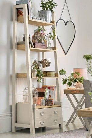 Huxley Painted Ladder Shelves Ladder Shelf Ladder Shelf Decor Shelves