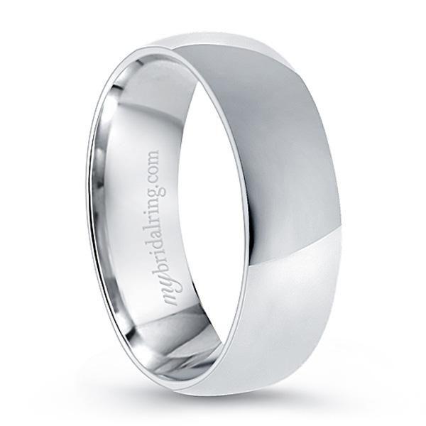 Plain Comfort Fit Wedding Ring In 14k White Gold With Images Mens Wedding Rings Comfort Fit Wedding Ring Mens Wedding Bands White Gold