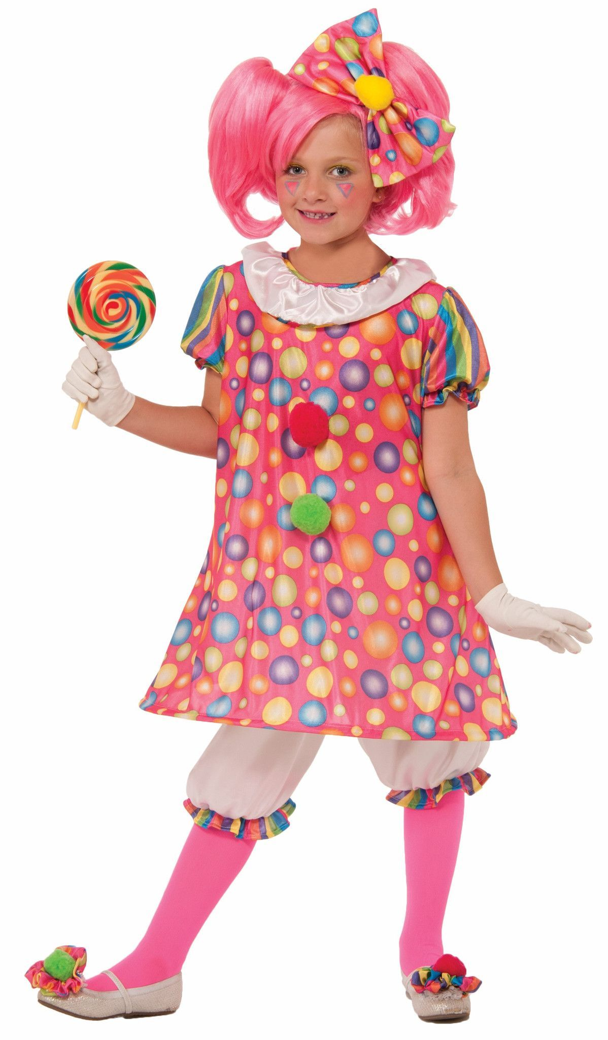 Circus Sweetie Little Tickles The Clown Child Costume
