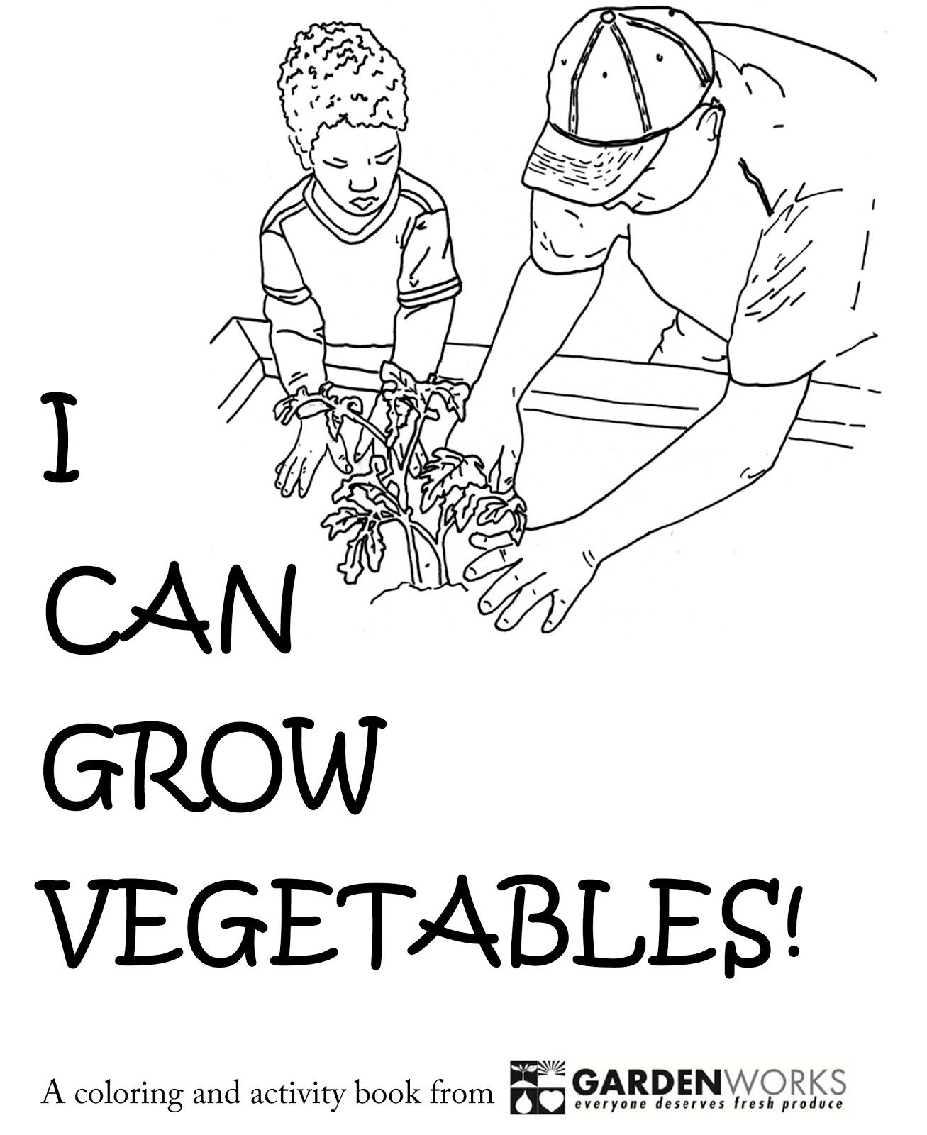 PDF coloring and activity book that teaches kids to grow