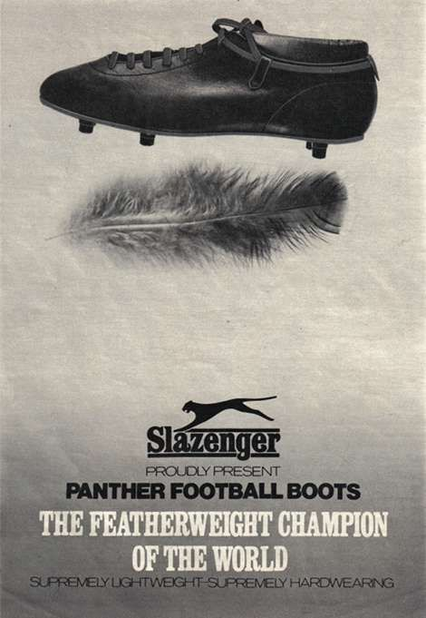 Slazenger Panther football boot from 1968.