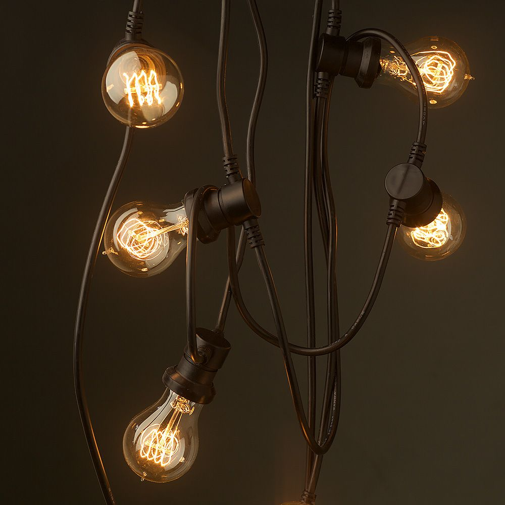 Low Voltage Outdoor Party Lights: Vintage Edison 20 Bulb Party Lighting 240V