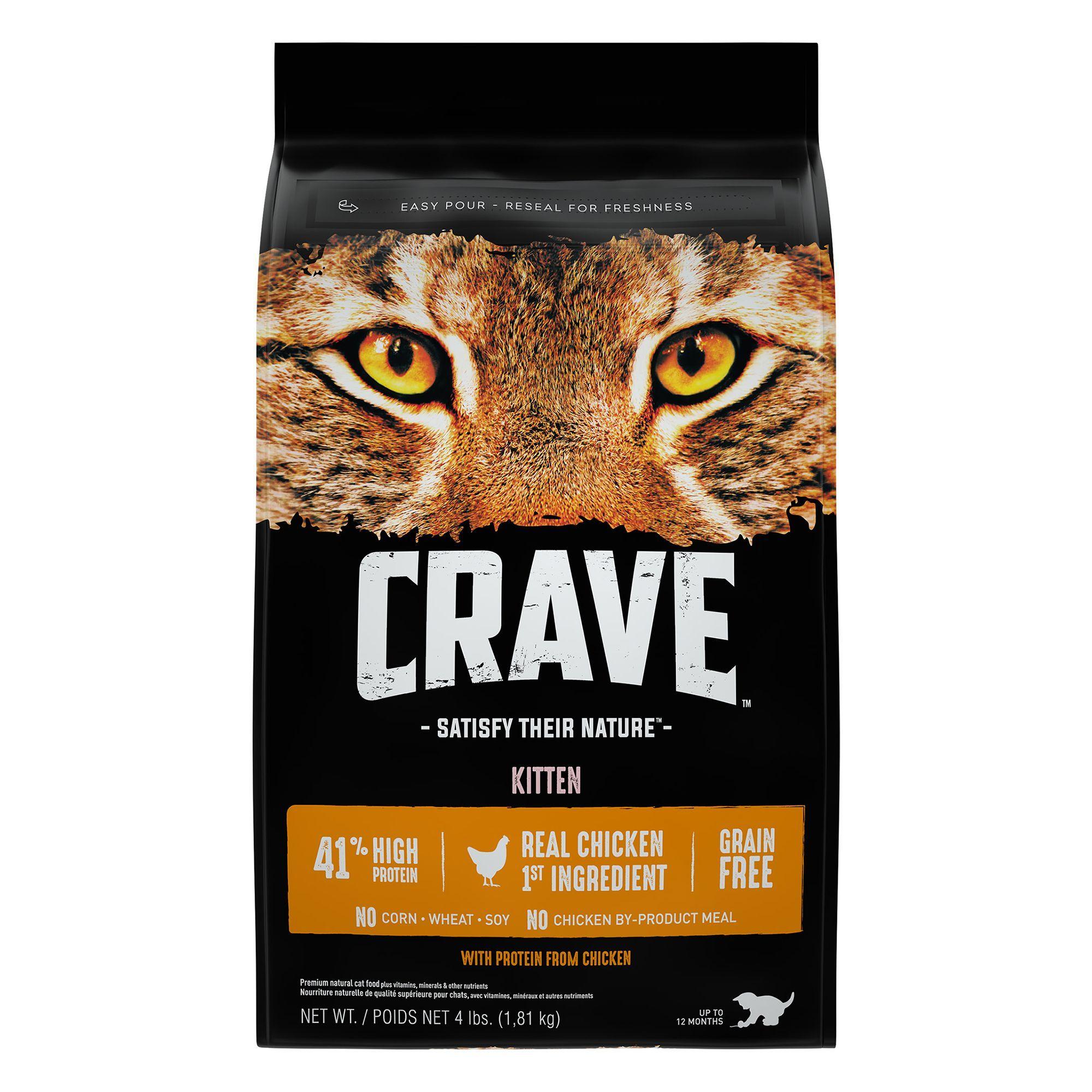 Crave kitten cat food grain free high protein chicken