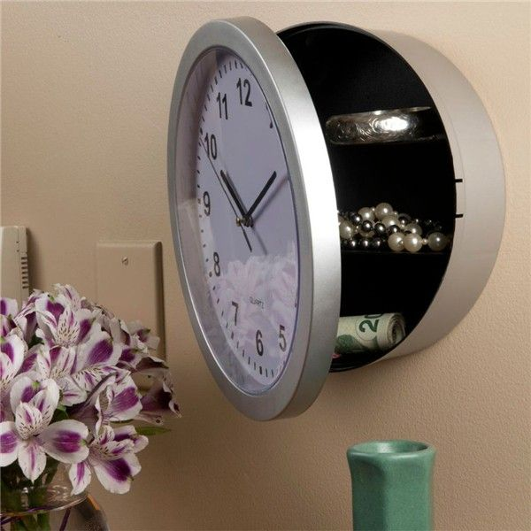 Hide Your Valuables Out Of Sight In This Clever Clock Safe
