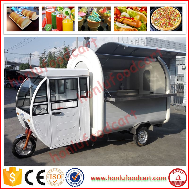 2017 New Arrival White Electric Food Trucks Mobile Coffee