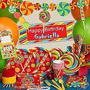 Colorful Sugar Buzz Party supplies