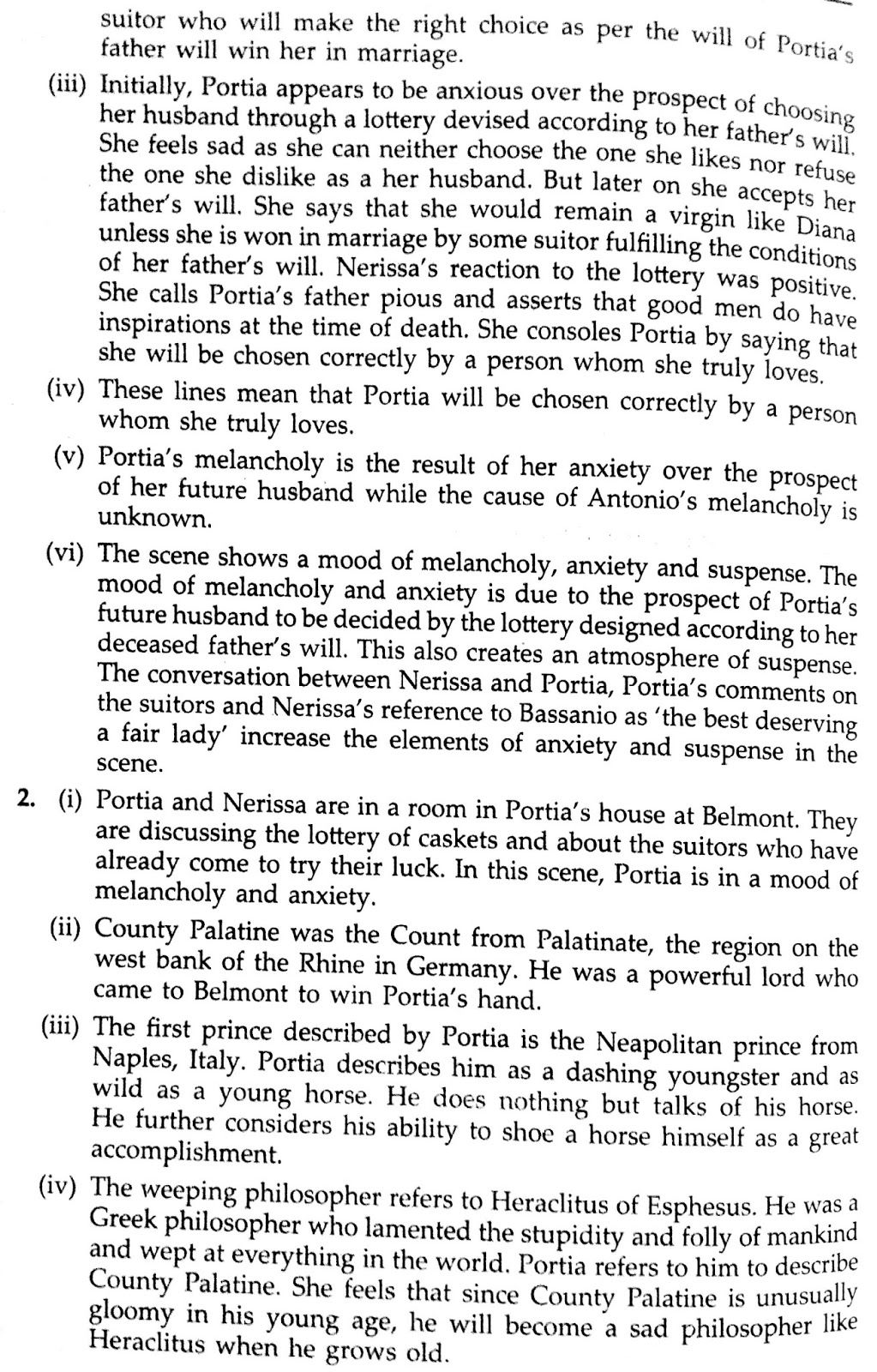Solved Textbook Workbook Answer Solution Of The Merchant Venice Act 1 Scene 2 Merchants Text With Paraphrase Pdf