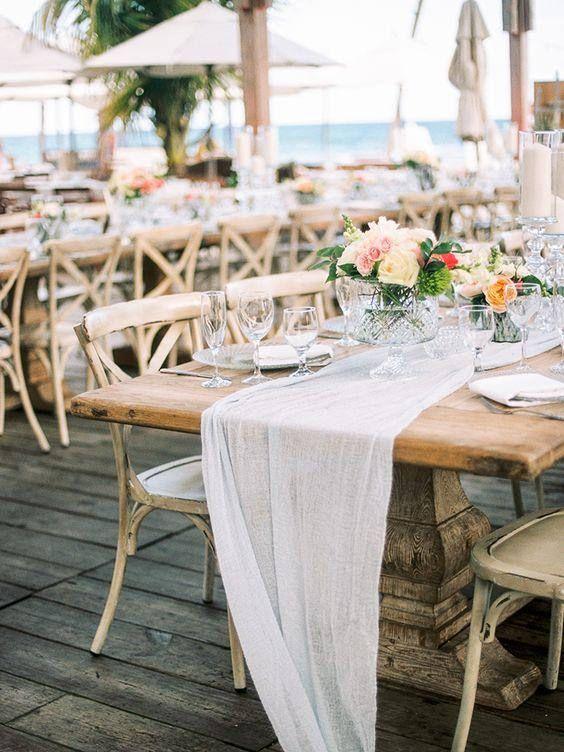 Boho Wedding Cheesecloth table runner Rustic wedding ...