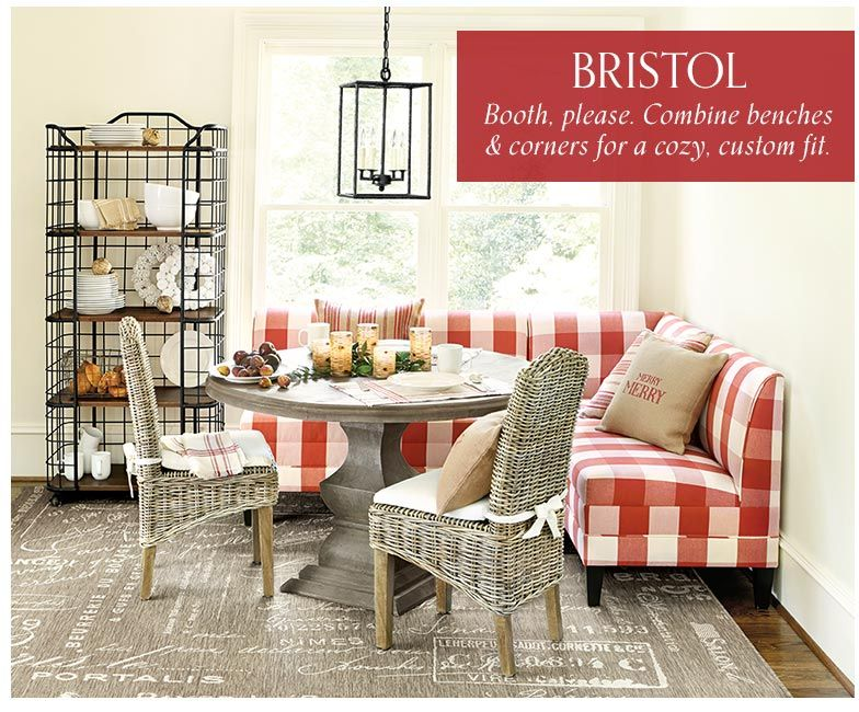 A Bright Red Buffalo Check Print Is Just The Punch Of Personality This  Light And Airy Breakfast Room Needs.