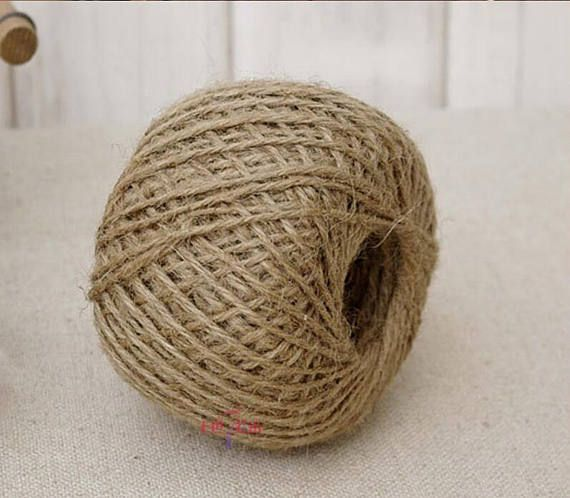 Natural Jute Thread String Cord Ribbon Yarn Twine Arts /& Crafts Gift Warp Brown