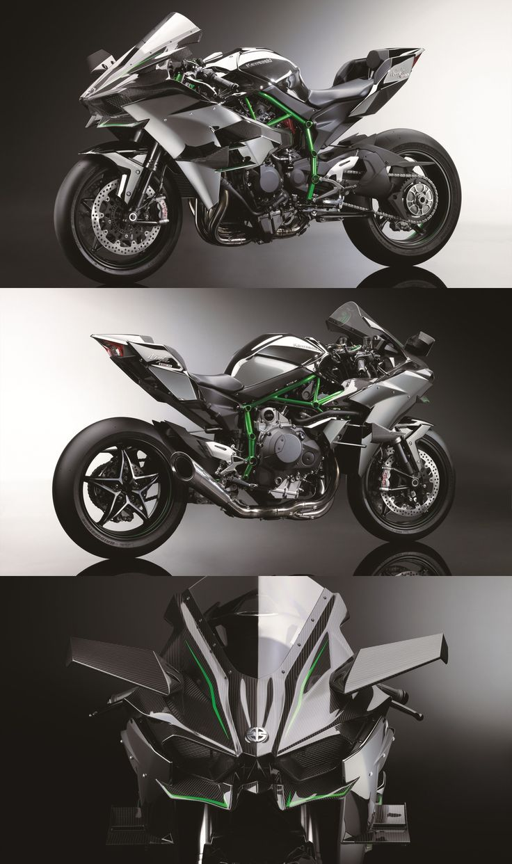 kawasaki ninja h2r - with 300hp from a supercharged engine, it's