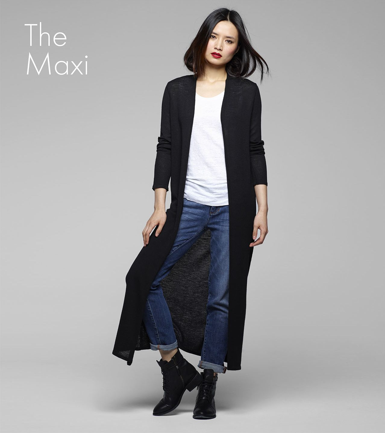 eileen fisher icons collection : the maxi cardigan #EF30. Tempting ...