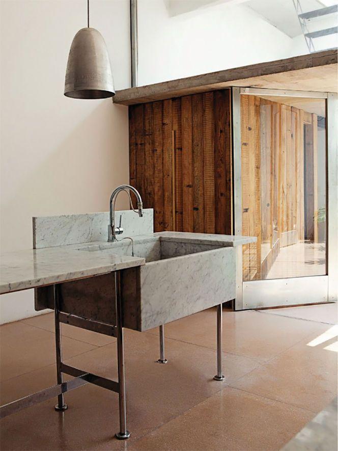 Cozinha com Materiais Naturais