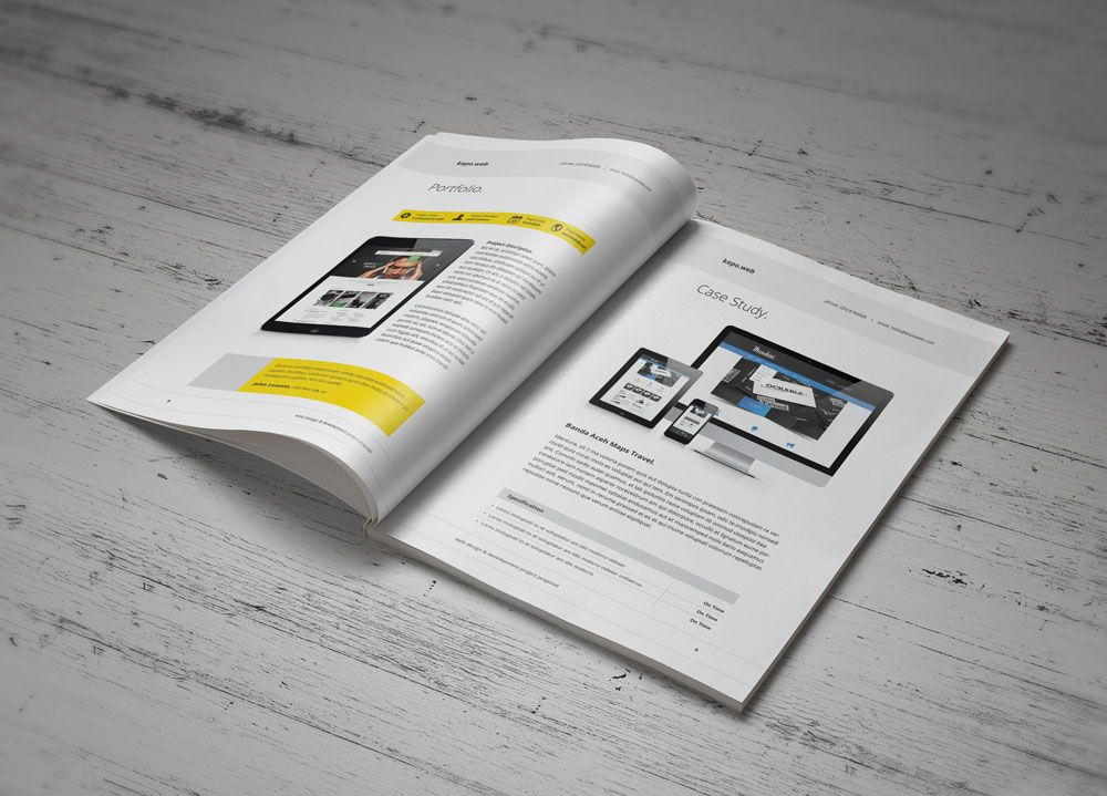 Web Design Proposal Proposals, Portfolio samples and Brochures