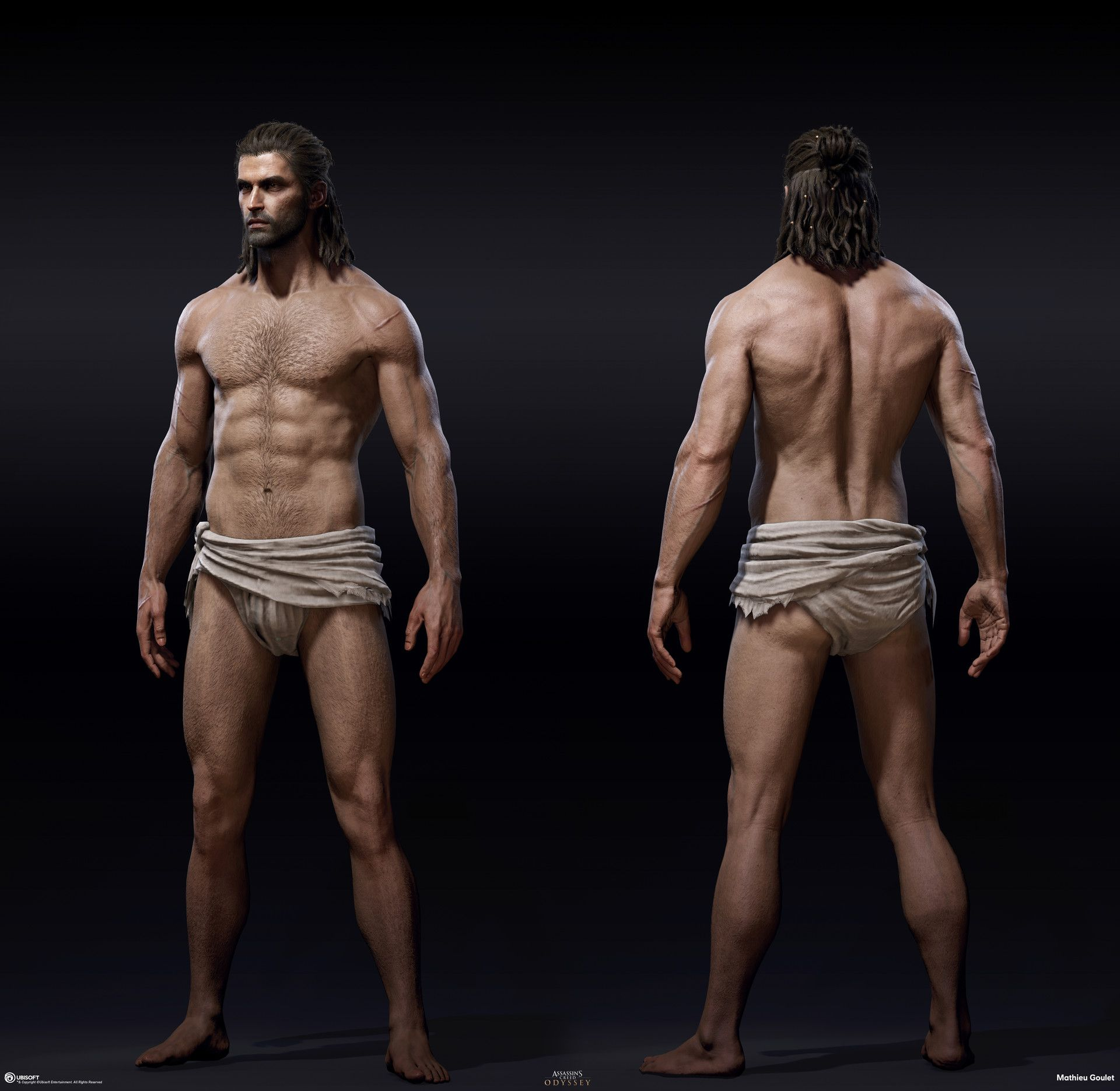 Artstation Assassin S Creed Odyssey Alexios Body Mathieu
