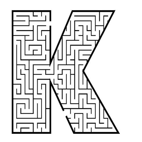 coloring pages mazes letter - photo#15