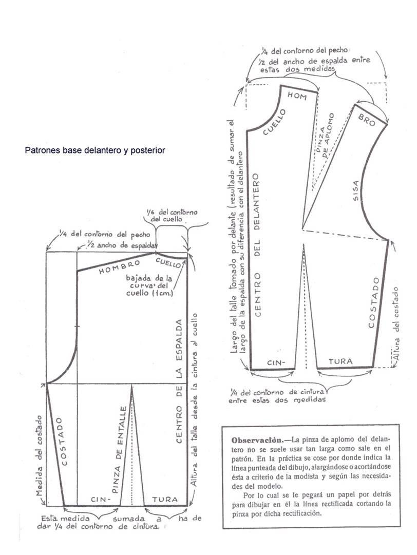 patron camisa | Lecciones de Corte y Costura | Sewing, Sewing ...