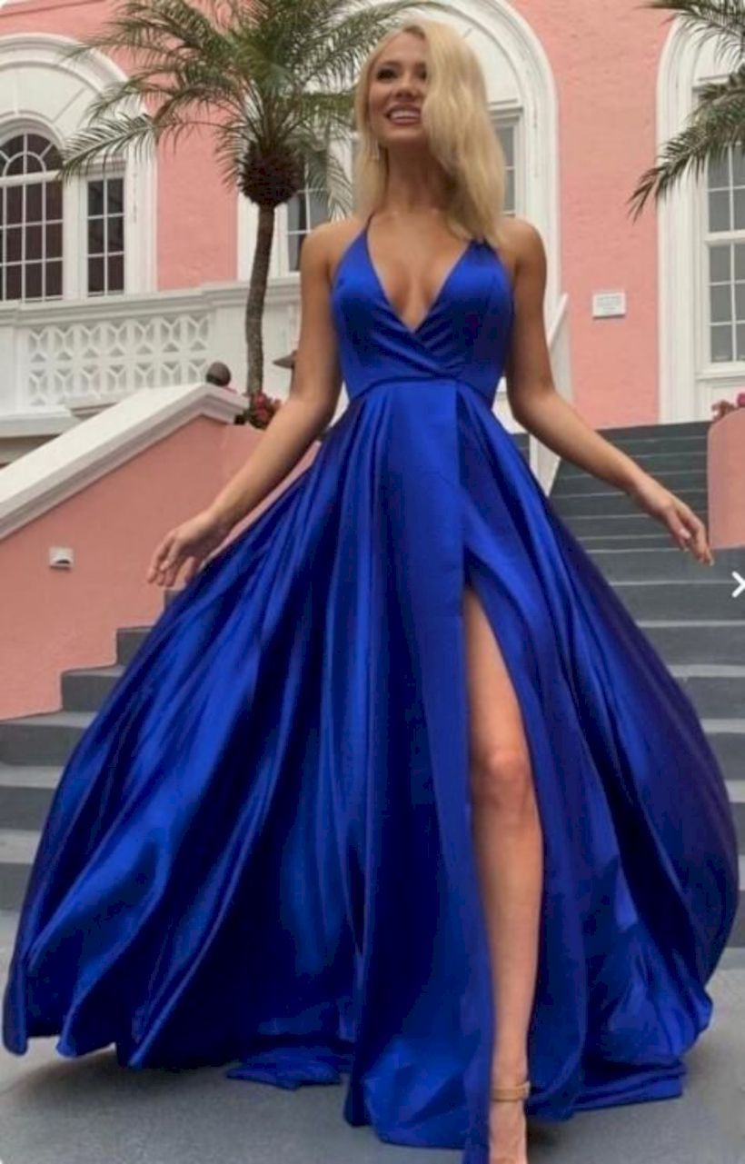 46 blue prom dress ideas that add you look charming