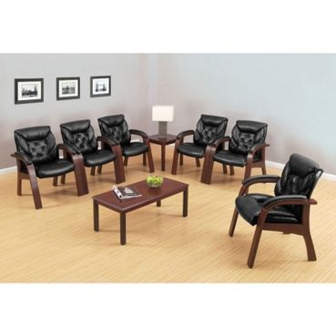 Kingston Collection Faux Leather Guest Chair - Traditional Office Chair | National Business Furniture