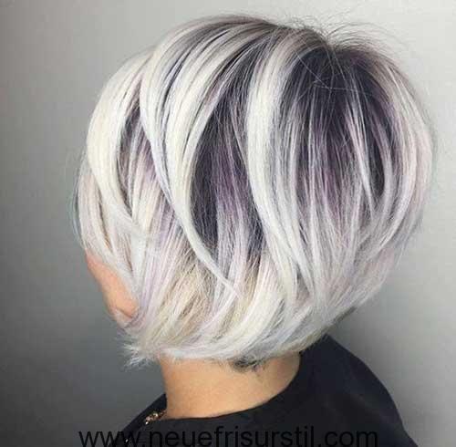 Grau gefarbte kurzhaarfrisuren