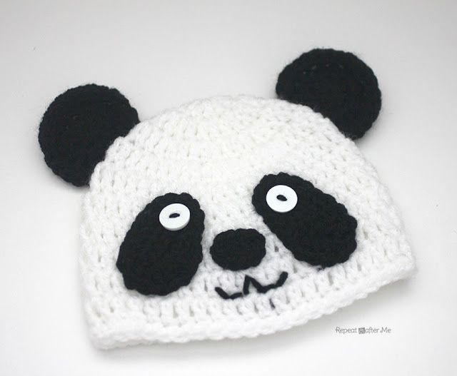 Crochet Panda Bear Hat | Ganxet | Pinterest | Croché, Ganchillo y ...
