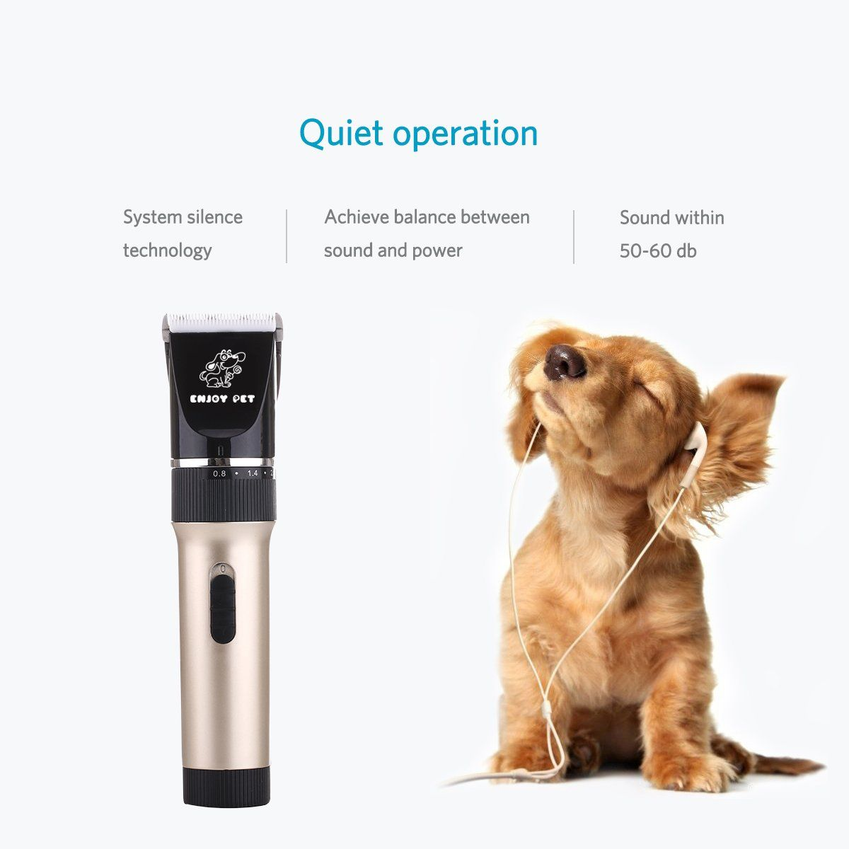 Enjoy Pet Dog Clippers Cat Shaver Professional Hair Grooming Clippers Detachable Blades Cordless Rechargeable W Dog Clippers Dog Grooming Dog Grooming Supplies
