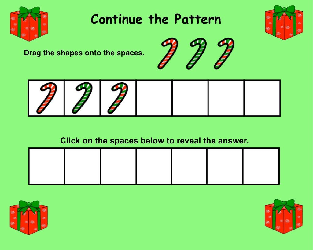 Interactive Smartboard Patterning Graphing Activities For