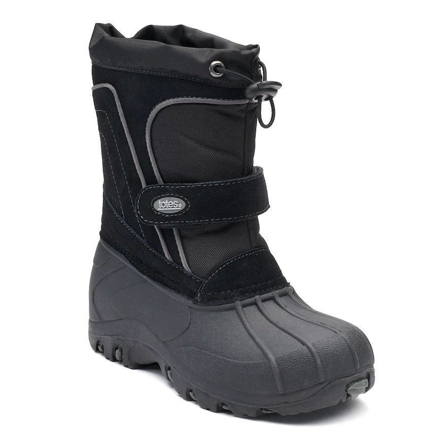 6ccc10633b1 totes Trent Boys Winter Boots Black Youth size 6 NEW https   www.