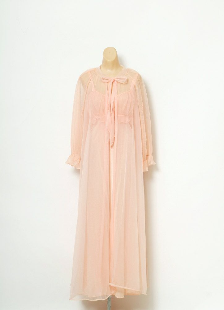 31b72eca1 Vintage 70s Nightgown   1970s Nightgown Maxi  Pajamas