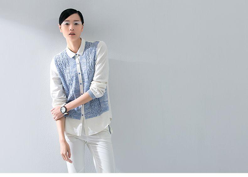 Toyouth autunno nuovo arrivo di lana lavorato a maglia di lana della rappezzatura delle donne camicette camicie a maniche top femminili in      Toyouth ada Bluse e camicie su AliExpress.com | Gruppo Alibaba