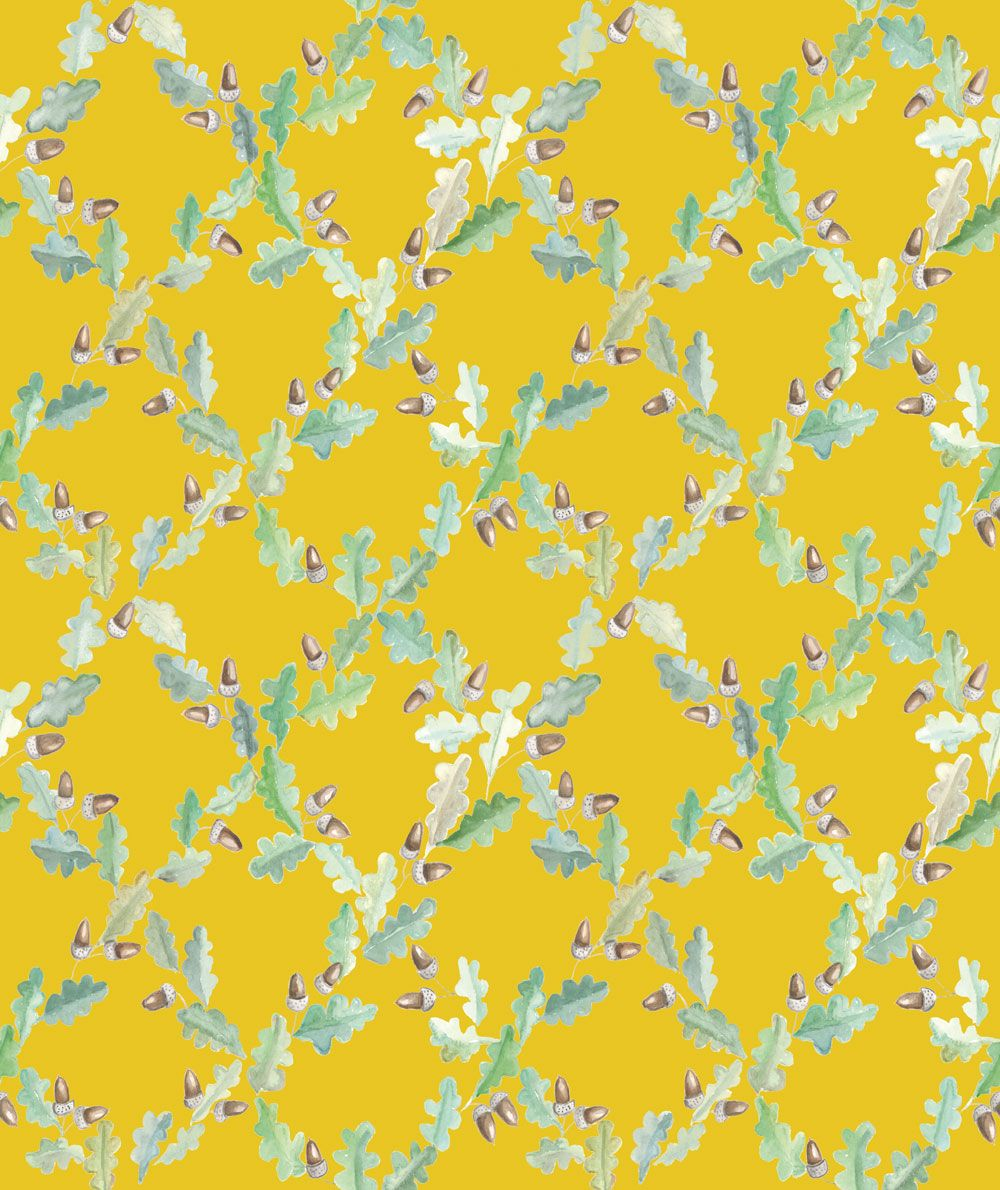 Pirenaica by Coordonne Mustard Yellow Wallpaper