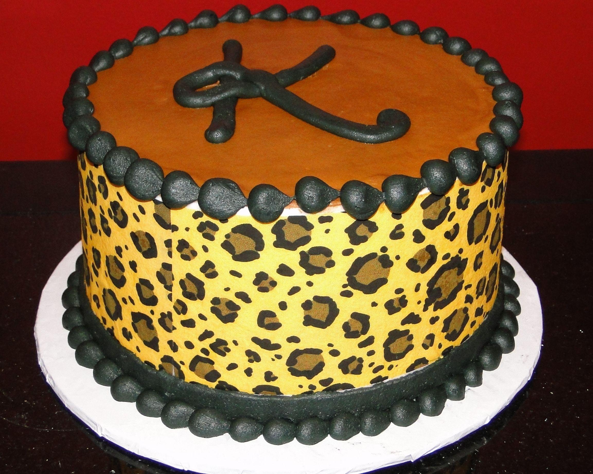 Remarkable Cheetah Birthday Cakes Cake To Go Birthday Cheetah Print Funny Birthday Cards Online Benoljebrpdamsfinfo