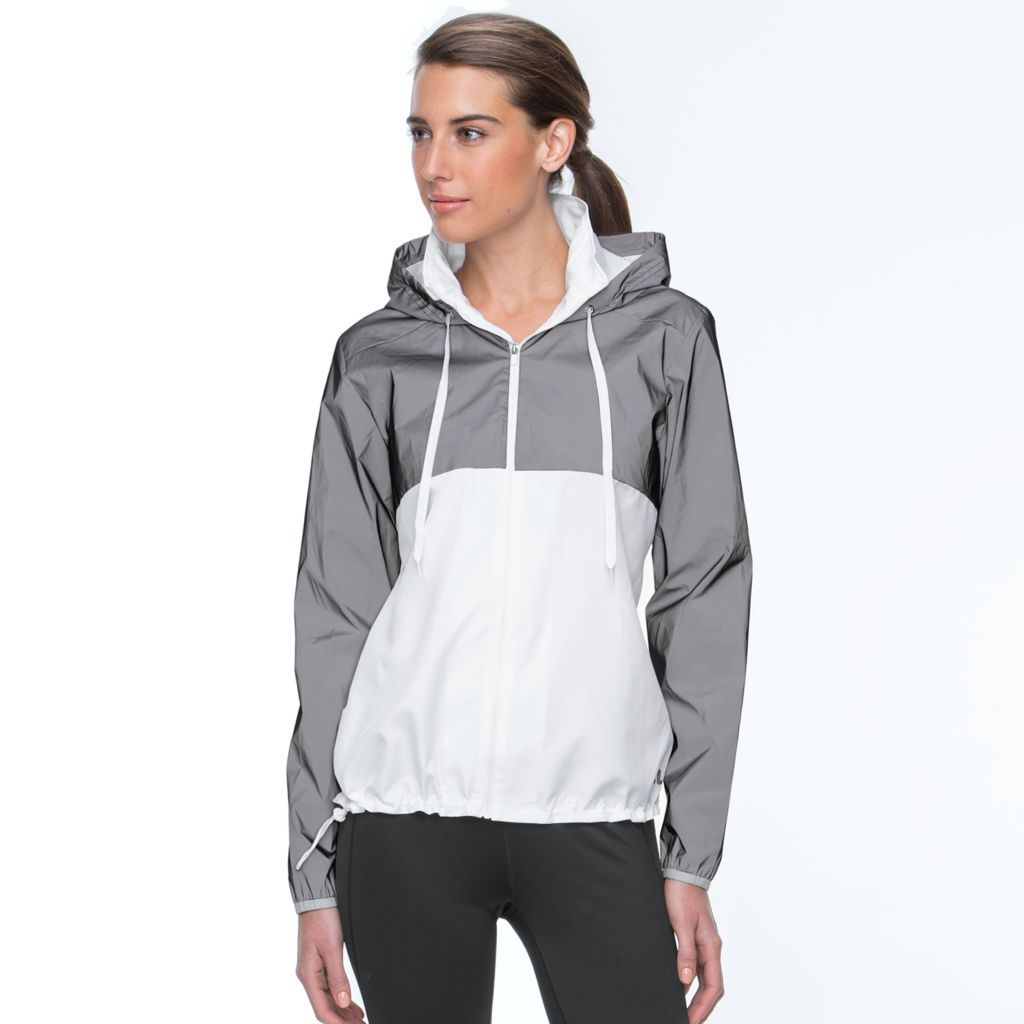 Women's FILA SPORT® Reflective Hooded Windbreaker Jacket