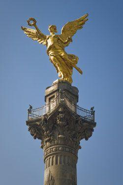 Angel De La Independencia Paisaje Urbano Angel De La Independencia Adornos Para La Puerta De Arpillera