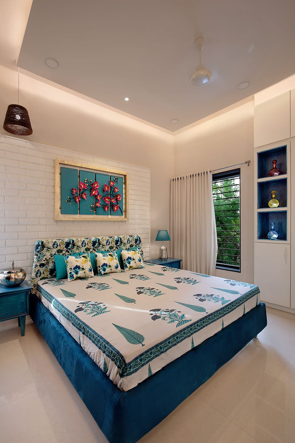 The Turquoise House Mixes Traditional Mediterranean Styles Dress Your Home Indian Bedroom Decor Home Decor Master Bedrooms Decor