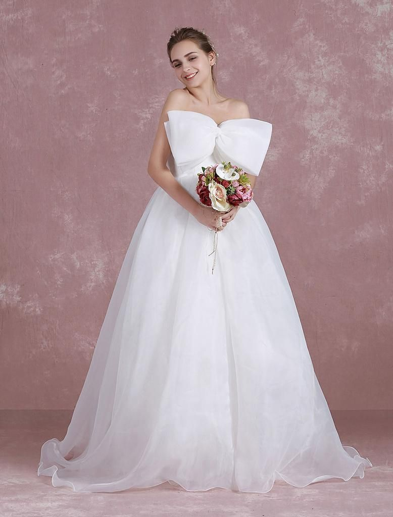 Satin backless wedding dress  Milanoo  milanoo Beach Wedding Dress Organza Strapless