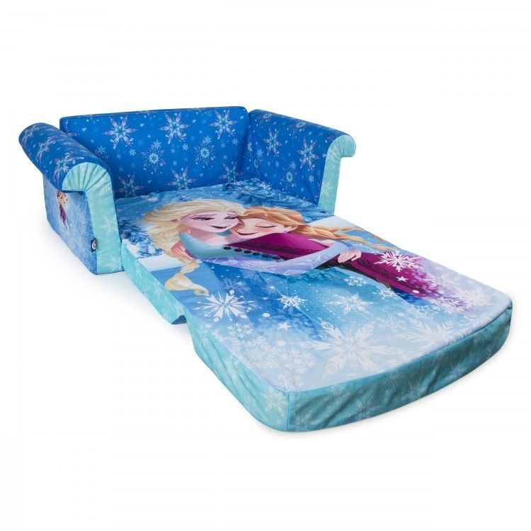 Frozen Flip Open Sofa Sleeper Playroom Furniture Machine Washable