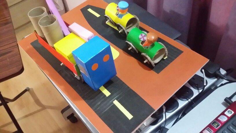 عمل سيارات من الورق المقوى للصف الثاني الابتدائي Diy