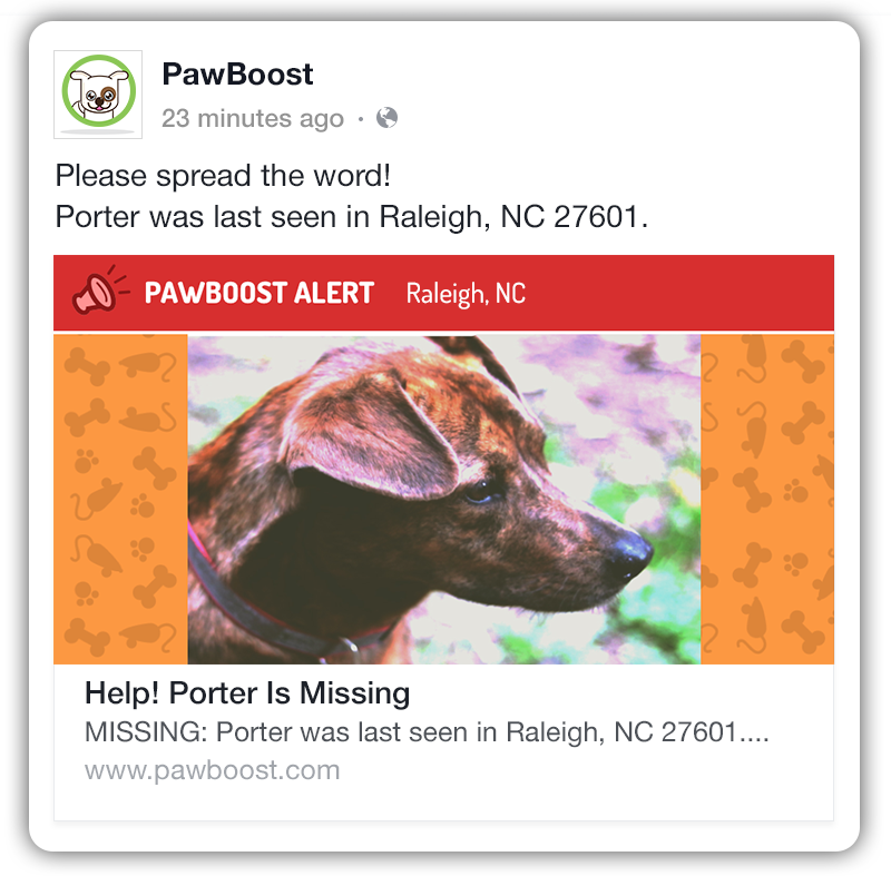 Pawboost Mobile Facebook Ad What To Do If Your Pet Is Lost Lost