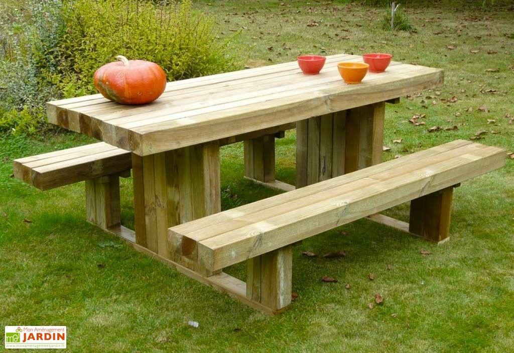 Table de Pique-Nique en Bois Autoclave 180 cm 90 mm Moderne ...