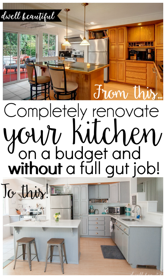 diy budget kitchen renovation - our gorgeous kitchen reveal | small