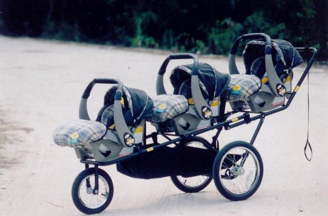 Twin Stroller Infant Pram For Triplets Good As It Provides Space For Three